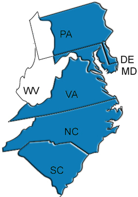 Midatlantic Refrigeration represents manufacturers in pa, wv, va, de, md, nc, sc